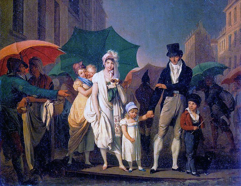 Des parapluies dans les rues de paris, 1803. Peinture par Louis-Léopold Boilly. (Photo: Public Domain)