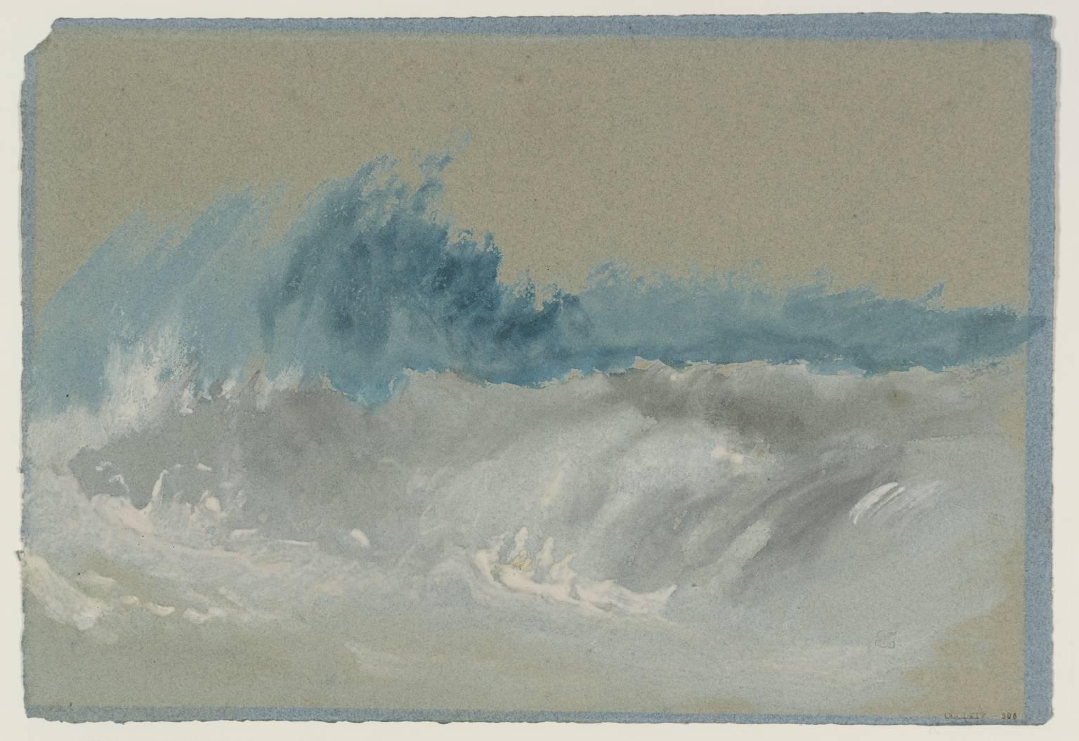 breaking wave  beach  circa   joseph mallord william turner   la boite verte
