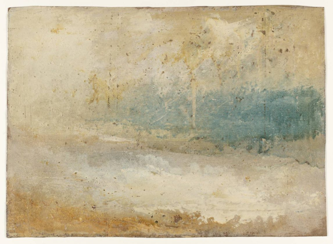 Waves Breaking on a Beach ?circa 1840-5 by Joseph Mallord William Turner 1775-1851