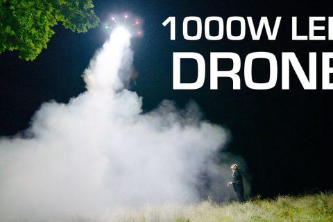1000W de LED sur un drone pour illuminer la nuit