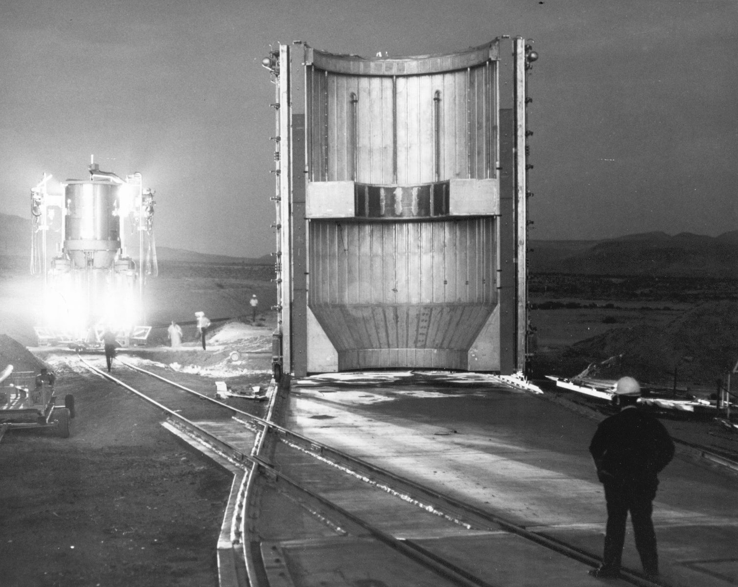 nuclear_rocket_engine_being_transported_to_test_stand_-_gpn-2002-000143