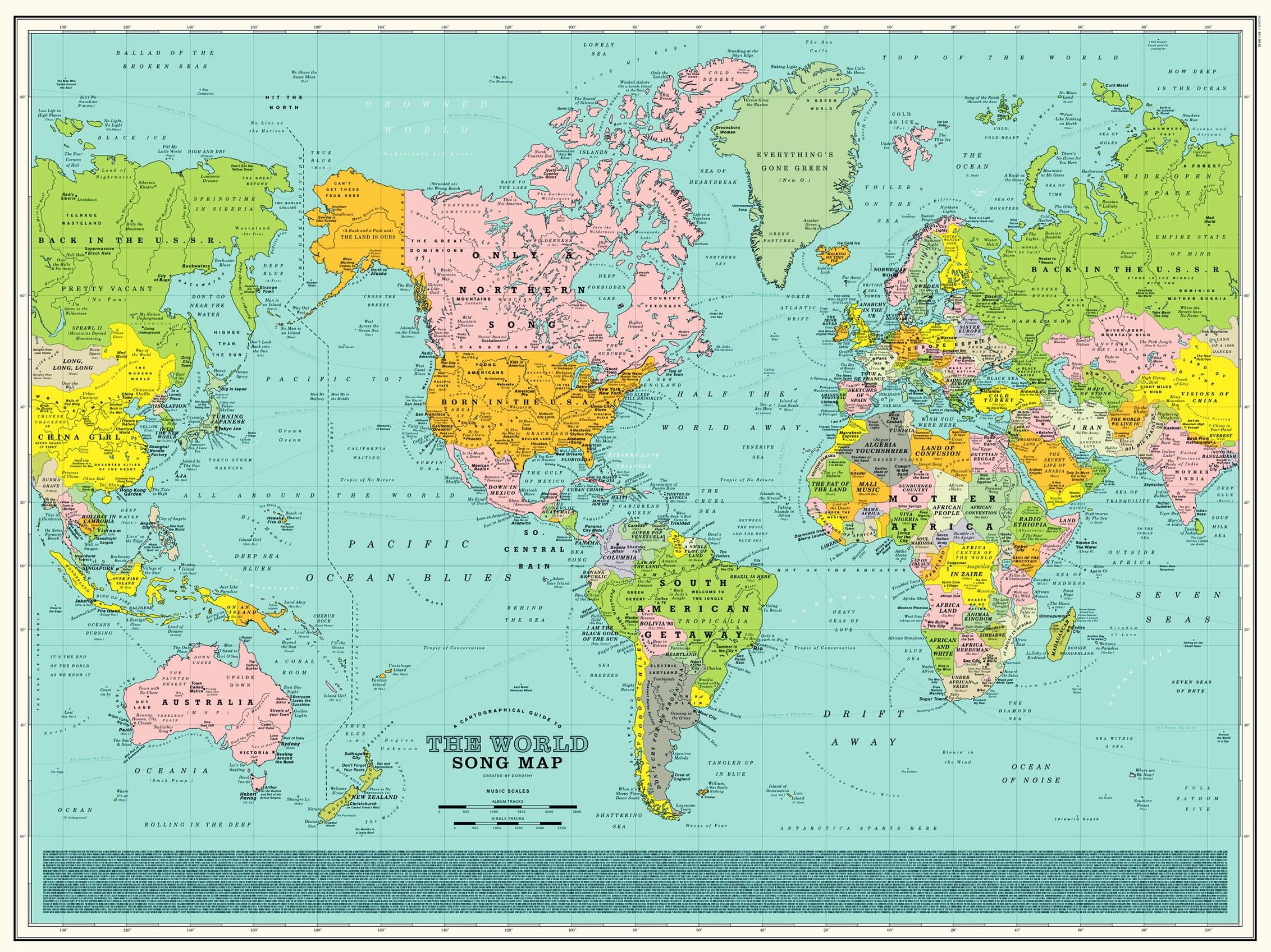 Carte Du Monde Nom.Une Carte Du Monde En Chansons