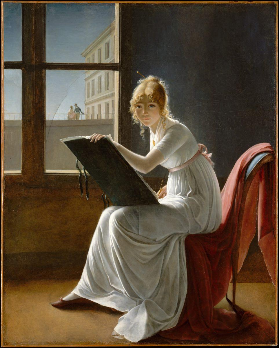 Marie-Denise Villers, - Autoportrait présumé - 1801