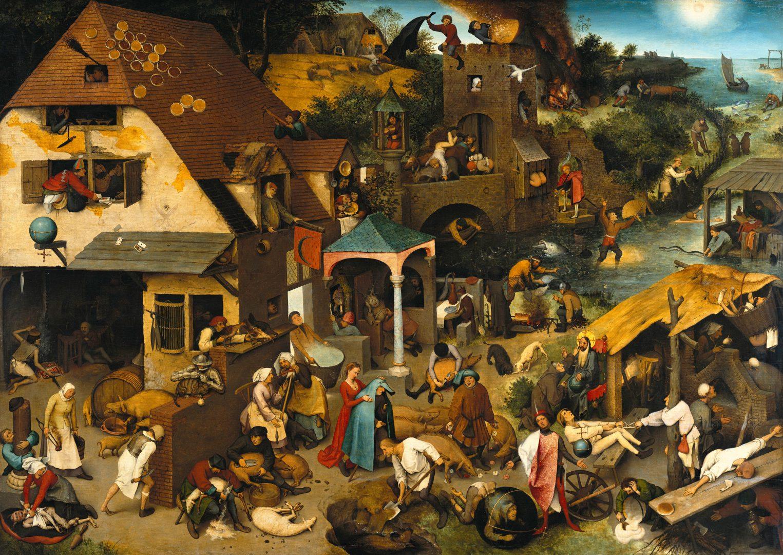 LETTRES INTIMES À MA LECTORATE - L'OUTRE-RÉEL IV //1 Pieter_Brueghel_the_Elder_-_proverbe-flammands-1525x1080